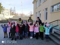 Встреча работников МЧС с детьми.